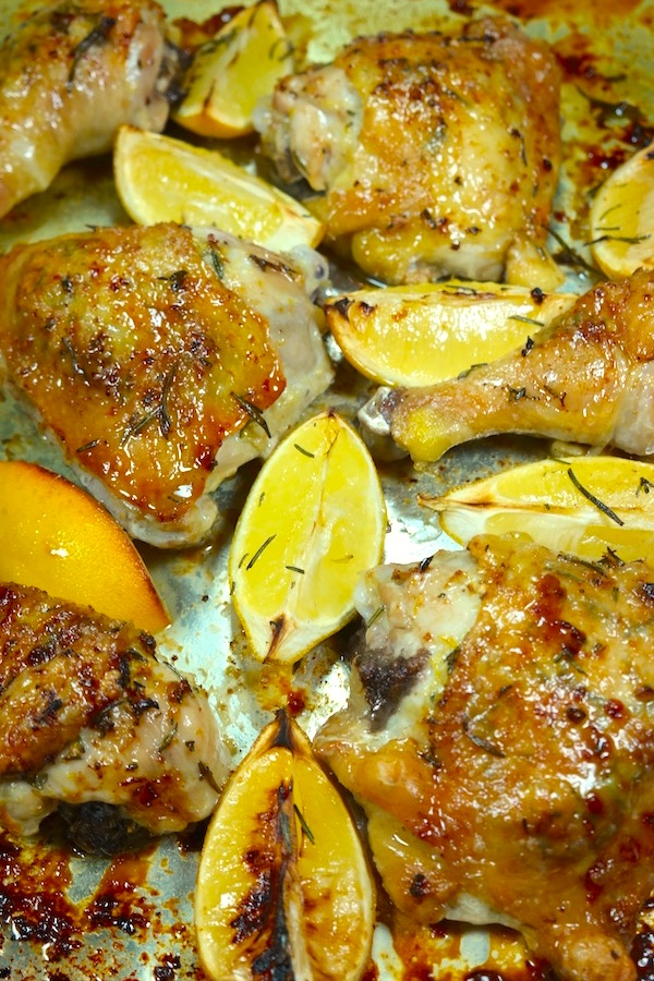 Lemon Rosemary Roasted Chicken | Our Crafty Kitchen (Recipes Crafted ...